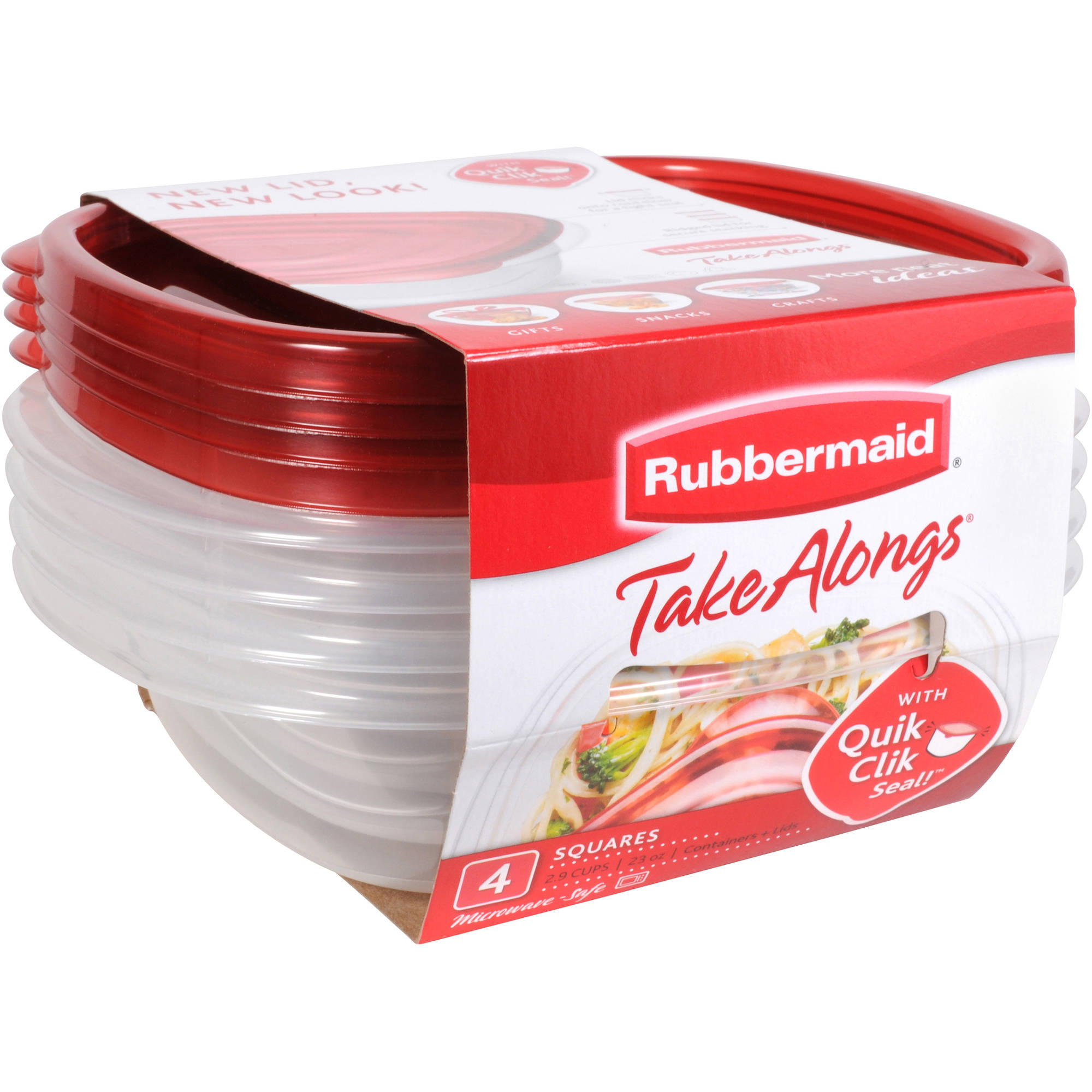 Rubbermaid TakeAlongs Squares Containers, 4 count