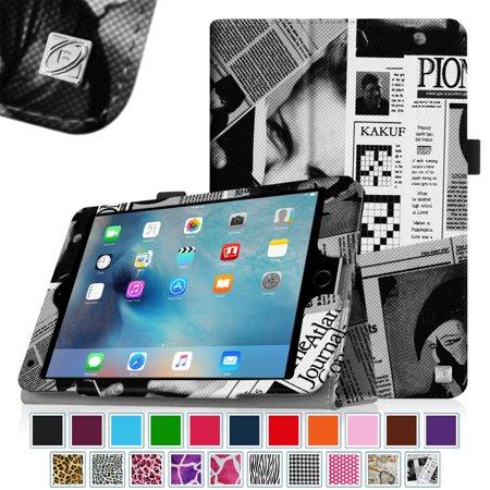 Fintie Ipad Mini 4 Case   Premium Pu Leather Folio Case Cover With Auto Wake  Sleep Feature   Newspaper
