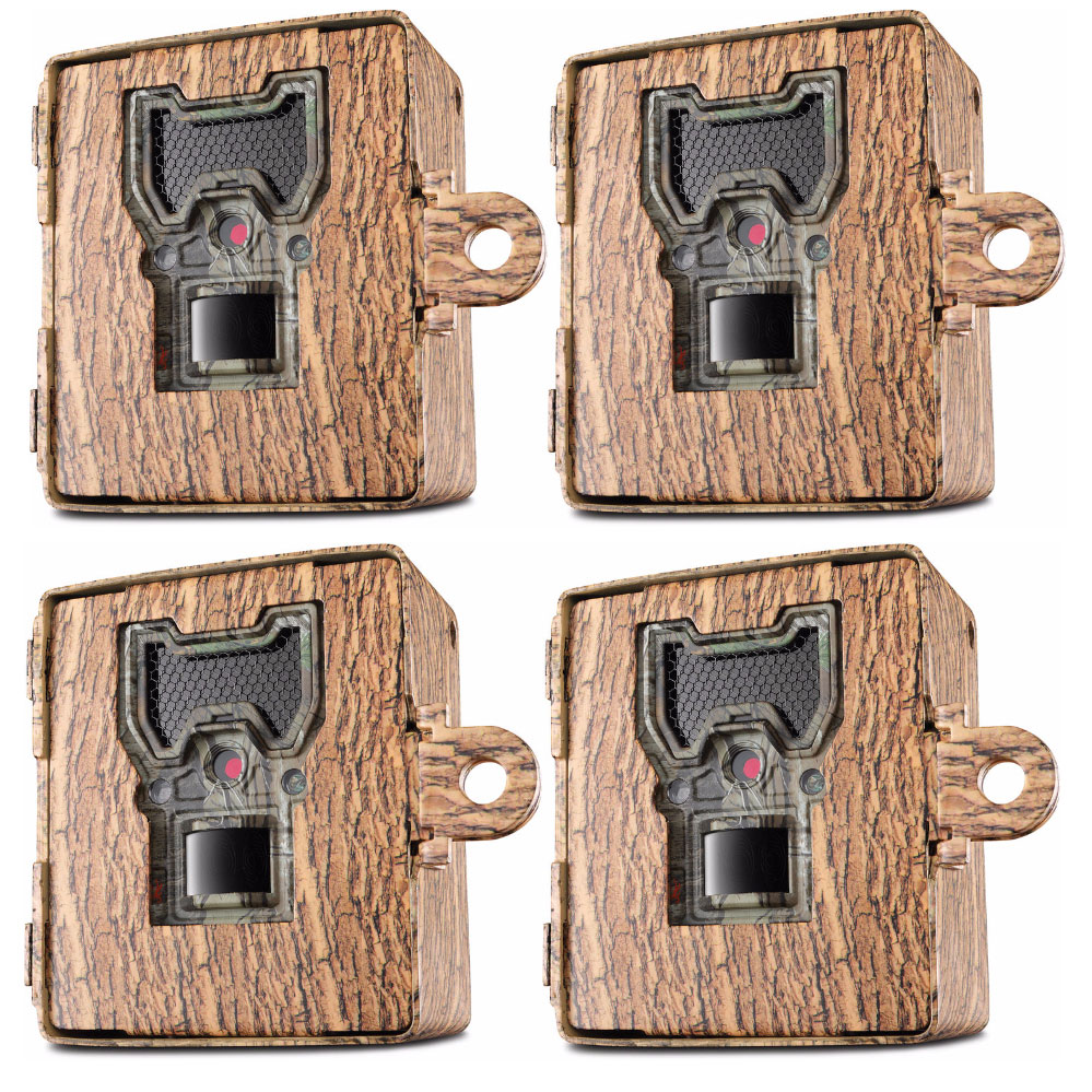 Bushnell Trophy Aggressor Series Trail Camera Security Case, Camo, 4-Pack by Bushnell