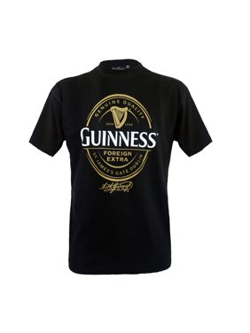 50a04060fbc8 Product Image Guinness Black T-Shirt with Foreign Extra Bottle Label Print