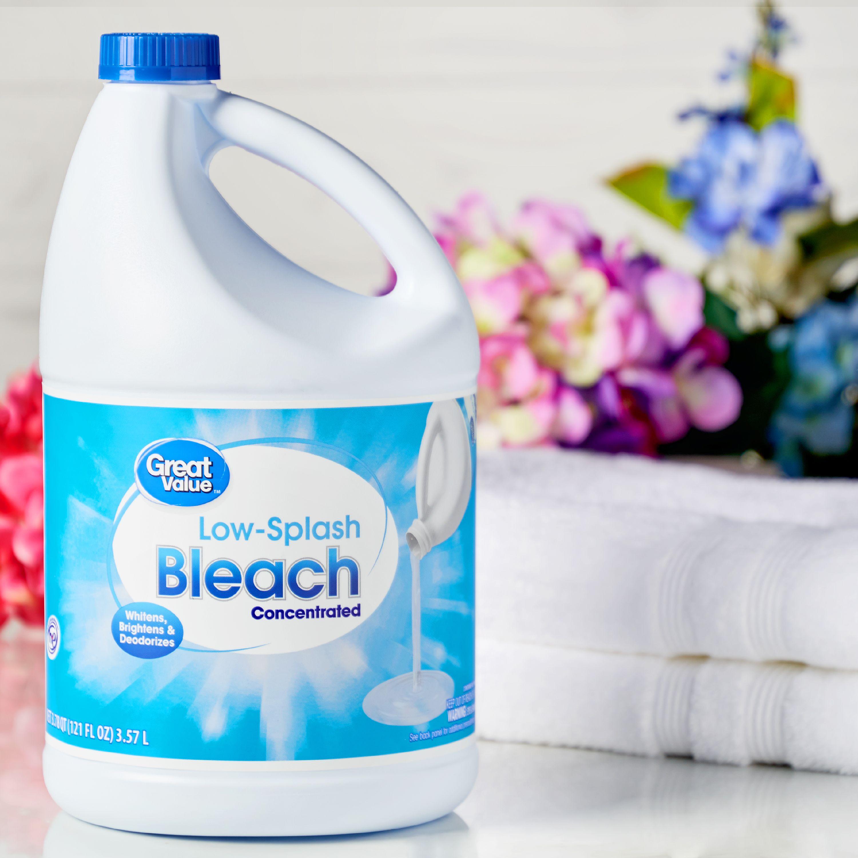 (2 Pack) Great Value Easy Pour Bleach, Regular Scent, 121 fl oz