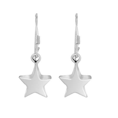 Charming Lucky Stars .925 Sterling Silver Dangle Earrings