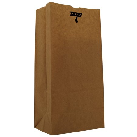 General Supply GK4500 #4 Paper Grocery Bag, 30lb Kraft, Standard 5 X 3 1/3 X 9 3/4, 500 Bags