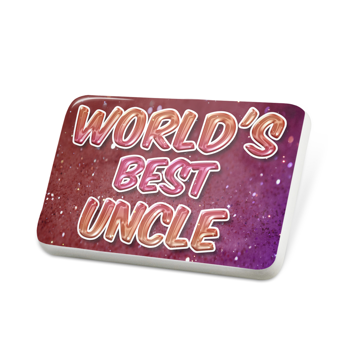 Porcelein Pin Worlds best Uncle, happy sparkels Lapel Badge – NEONBLOND