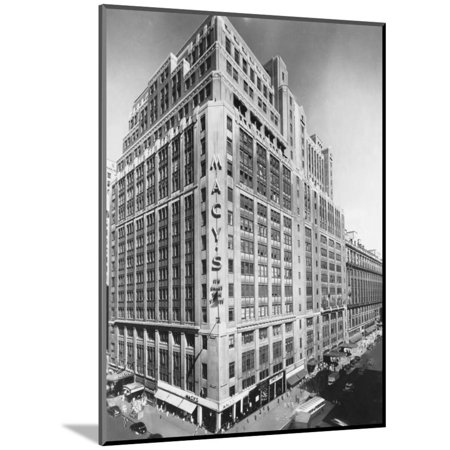 Exterior of Macy's Department Store Wood Mounted Print Wall (Discount Coupon For Macy's In Store)