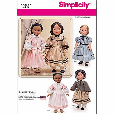Simplicity Crafts' One Size Doll Clothes Pattern, 1 Each