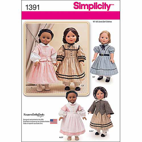 Simplicity Crafts Doll Clothes, 1 Size