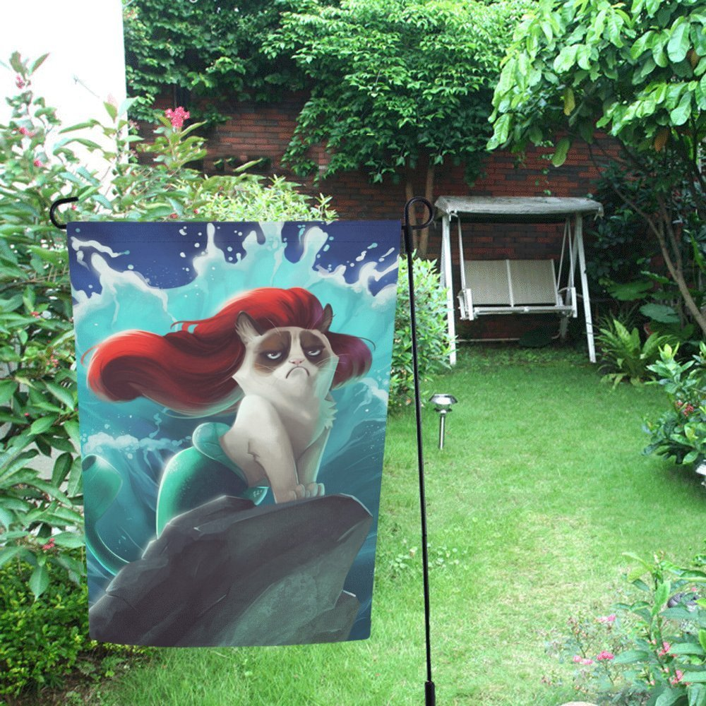 MYPOP Grumpy Cat I Want to Say No Decor Garden Flag 28x40 inches by MYPOP