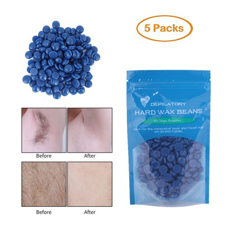 Walfront Women Men Body Legs Hair Removal Depilatory Wax Beans