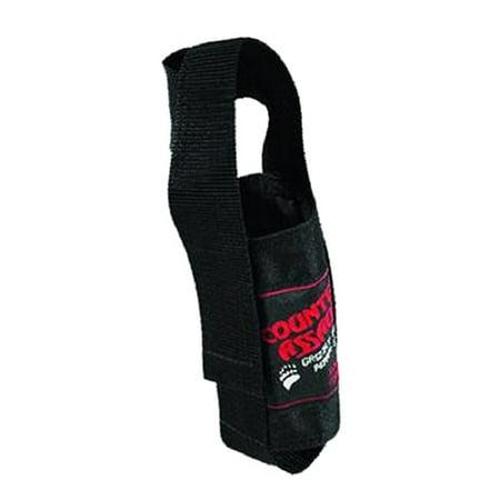 Deluxe Nylon Holster - Counter Assault Black Nylon Holster for 8.1 and 10.2 oz Bear Deterrent canisters