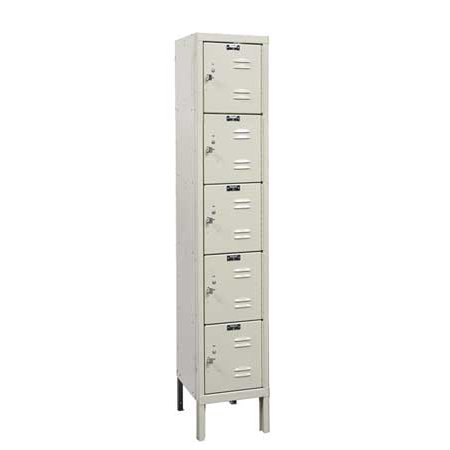 - HALLOWELL U1226-5A-PT Box Locker, 12 In. W, 12 In. D, 66 In. H