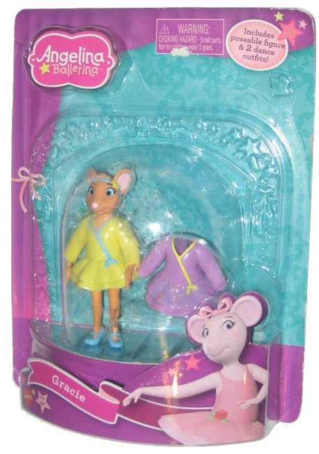 Angelina Ballerina Gracie Mattel (2010) Figure w  Dance Outfits by Mattel