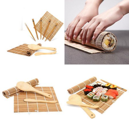 13Pcs/set Bamboo Sushi Making Kit Family Office Party Homemade Sushi Gadget For Food Lovers, Sushi Tool, Sushi