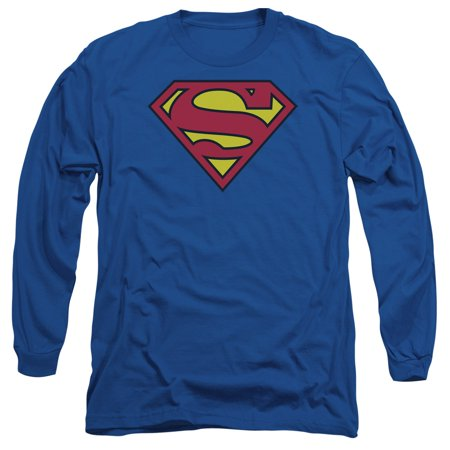 Superman - Classic Logo - Long Sleeve Shirt - XX-Large ()