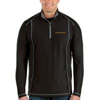 Washington Football Team Antigua Big & Tall Tempo Half-Zip Pullover Jacket - Black/Steel