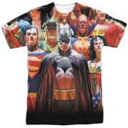 Jla - Wall Of Heroes - Short Sleeve Shirt - Small