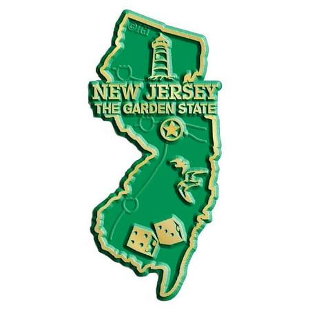 New Jersey The Garden State Map Fridge Magnet ()