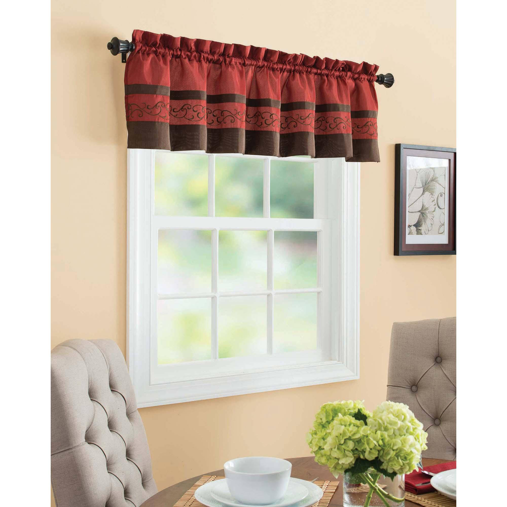 Better Homes U0026 Gardens Gingham And Blooms Valance   Walmart.com
