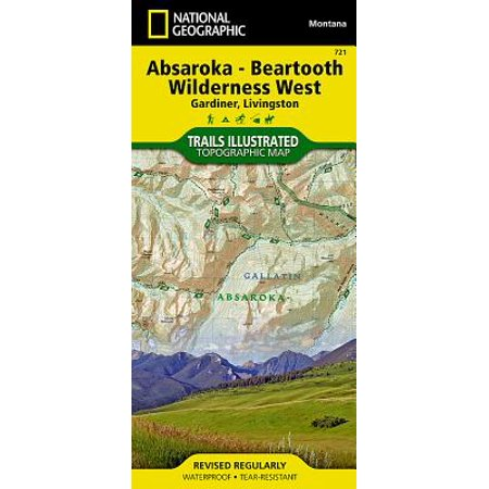 National Geographic: Trails Illustrated Topographic Maps: Absaroka-Beartooth Wilderness West [gardiner, Livingston] - Folded Map