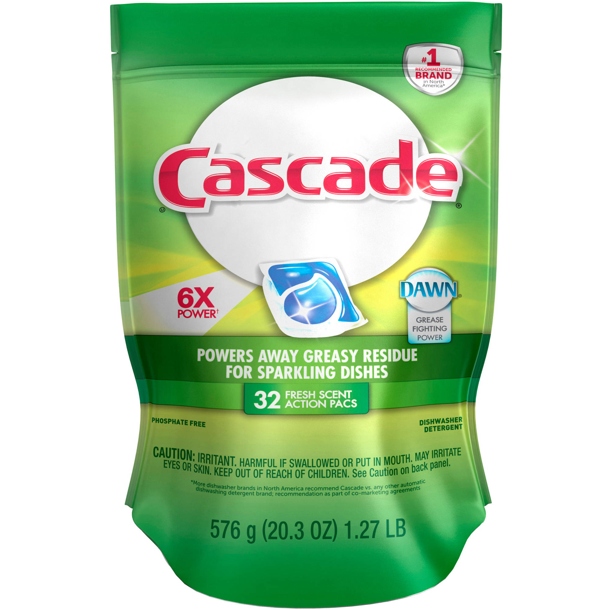 Cascade Actionpacs Fresh Scent Dishwasher Detergent (choose your size)