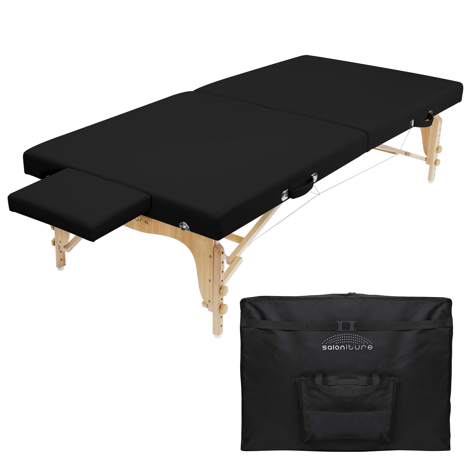 Saloniture Portable Physical Therapy Massage Table - Low to Ground Stretching Treatment Mat Platform - Multiple Colors Available