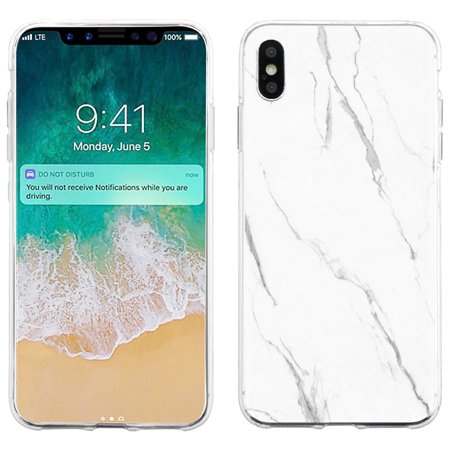 newest 301f6 3a65c For Apple iPhone XS Max Case, OneToughShield ® Scratch-Resistant Slim-Fit  TPU Protective Phone Case Cover - Marble / White