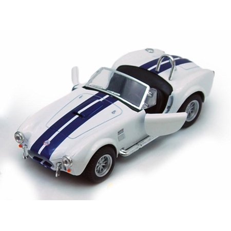 - 1965 Shelby Cobra 427 S/C Convertible, White - Kinsmart 5322/4D - 1/32 scale Diecast Model Toy Car (Brand New, but NOT IN BOX)