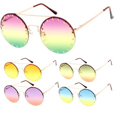MLC Eyewear Candy Lens 80s Retro Fashion Round Frame (Candies Sunglasses)