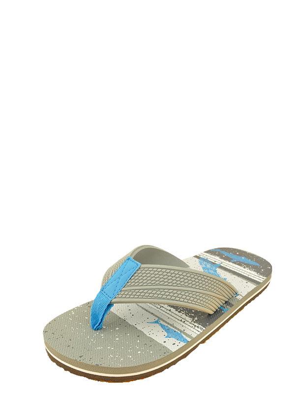 Boys Arizona Shark blue OR SURF BLUE flip flops MULTIPLE SIZES NEW WITH TAGS