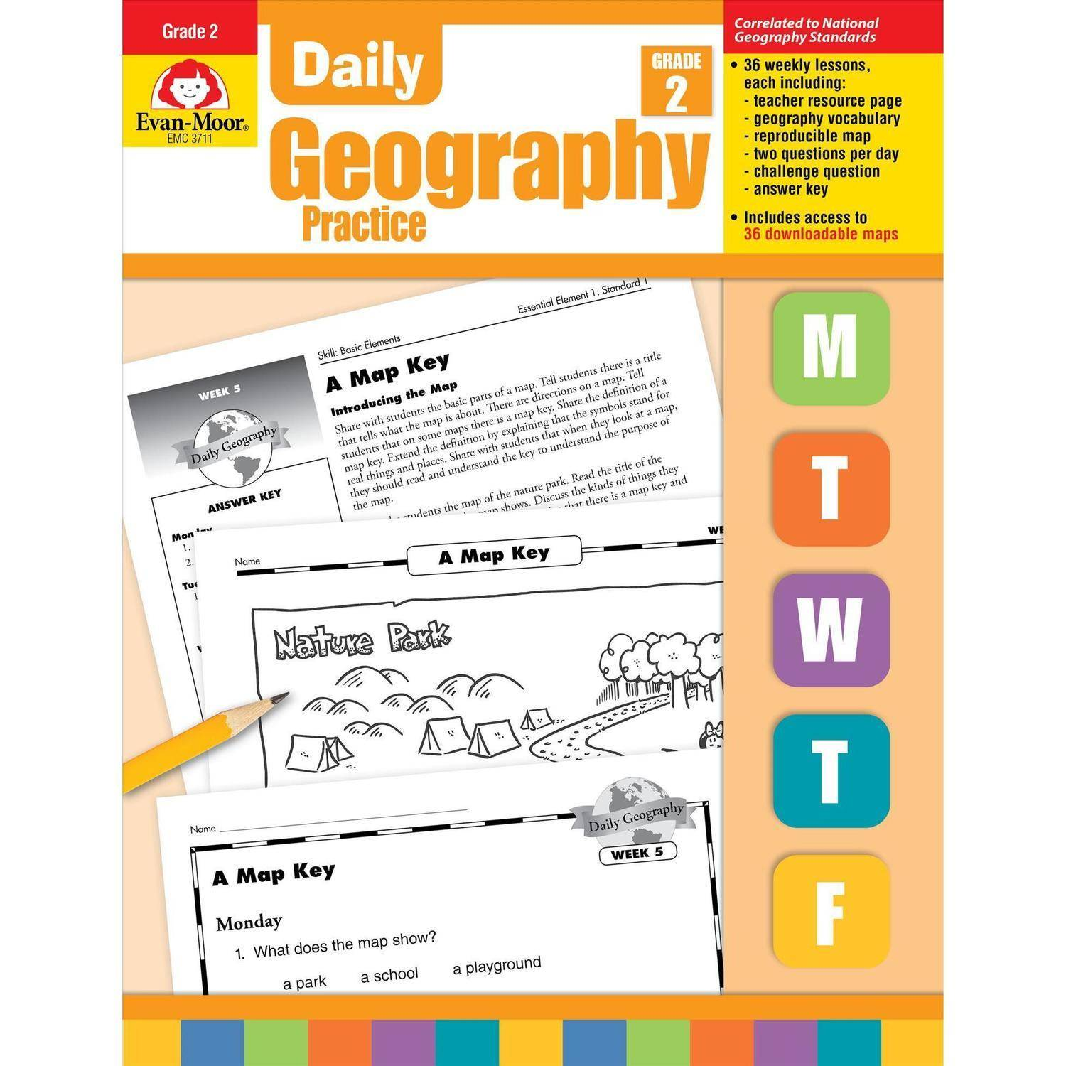 Daily Geography Practice, Grade 2 by Evan-Moor Educational Publishers