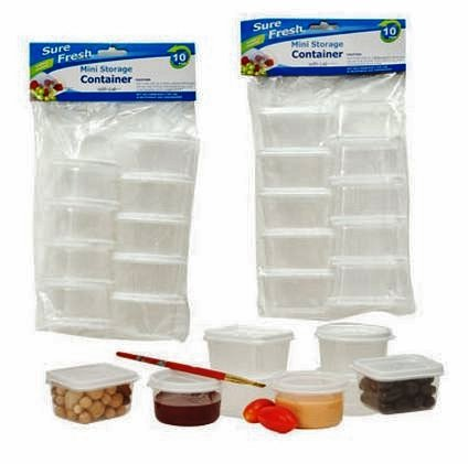 Mini Storage Containers with Lids Sure Fresh Plastic Reusable