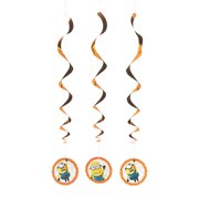 Despicable Me 3 Hanging Swirls for Birthday - Party Supplies - Licensed Tableware - Misc Licensed Tableware - Birthday - 3 Pieces