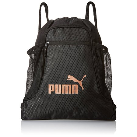 7e5314a2275d Puma Evercat Equinox Carrysack Drawstring Gym Bag, Black/Silver, One Size