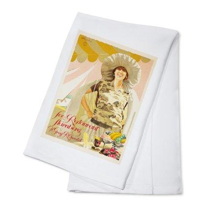 See - Restaurant Starnberg Vintage Poster (artist: Engelhard) Germany c. 1924 (100% Cotton Kitchen Towel)