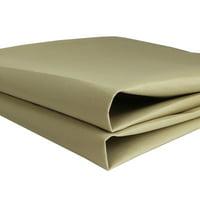 Outdoor Canvas Khaki Awning Waterproof Fabric UV Resistant Multi-purpose