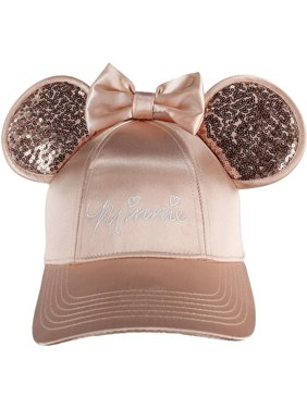 Jerry Leigh Disney  Minnie Mouse Baseball Cap with 3D Bling Ears (Women's)