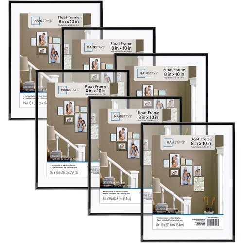 Mainstays 8x10 Float Picture Frame Set Of 6 Walmartcom