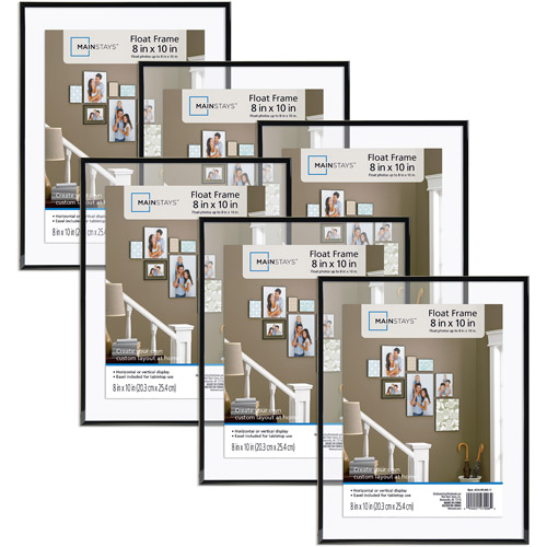 Mainstays 8x10 Float Picture Frame, Set of 6