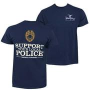 Yuengling Men's Navy Blue Police Bomber T-Shirt-Medium