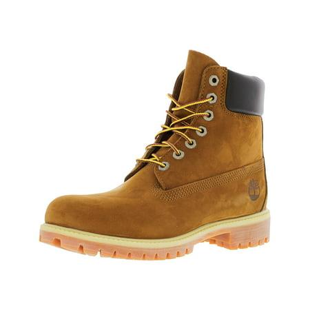 00c013a0839d Timberland - Timberland Men s 6 Inch Premium Boot Nubuck Rust Orange  High-Top - 7.5M - Walmart.com