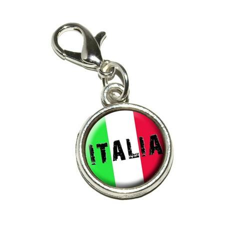 Italia - Italy Italian Flag Bracelet Charm