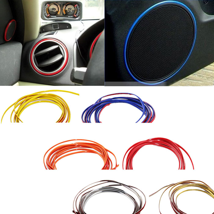 DZT1968® 5m Flexible Trim For Car Interior Exterior Moulding Strip Decorative Line