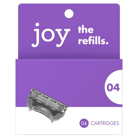 joy Five-Bladed Women's Razor Blade Refills, 4 Ct