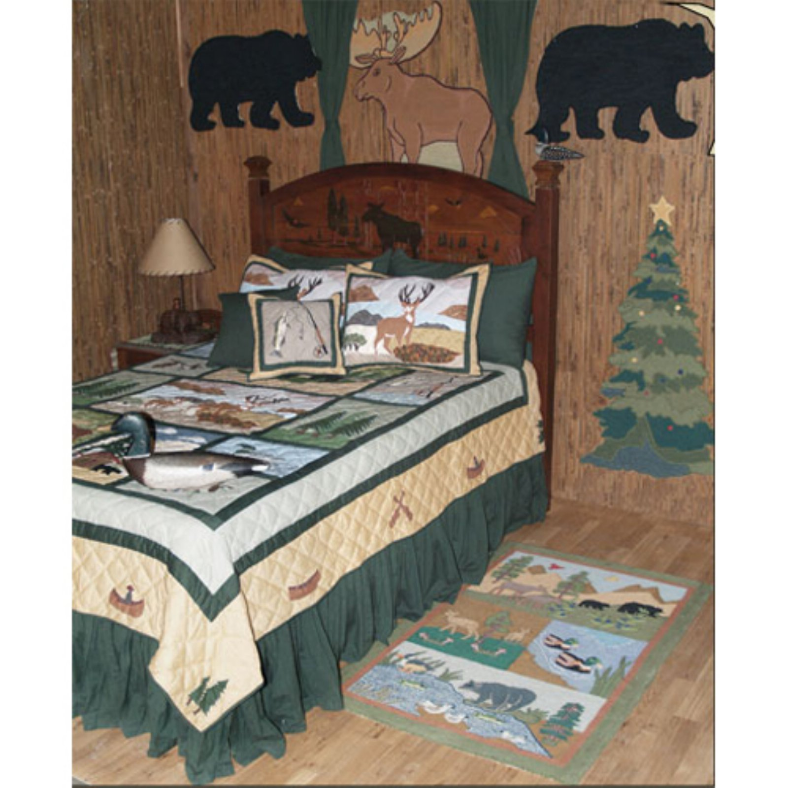 Patch Magic QTLGFV Lodge Fever, Quilt Twin 65 x 85 inch
