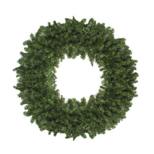 Commercial Size 12' Canadian Pine Artificial Christmas Wreath - Unlit