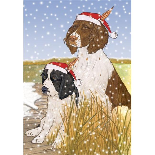 Pipsqueak Productions C921 Holiday Boxed Cards- English Springer Spaniel