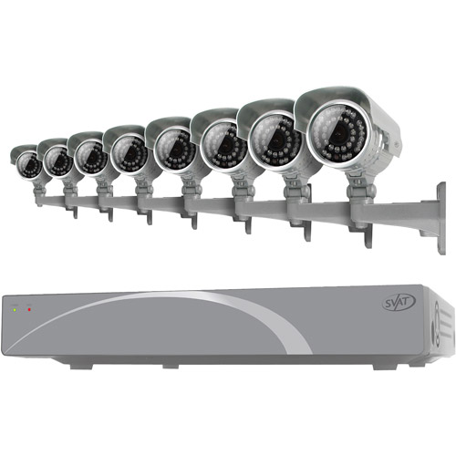 SVAT 11031 8-Channel Smart Security DVR with 8 Ultra-Resolution Outdoor Night-Vision Security Cameras