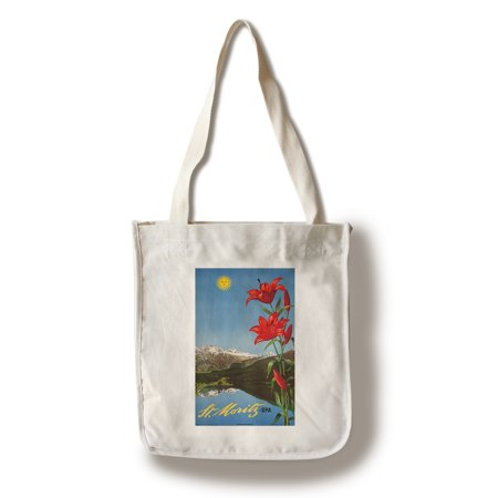 St Moritz - Spa Vintage Poster (artist: Steiner) Switzerland c. 1942 (100% Cotton Tote Bag - (Best Spa In St Moritz)
