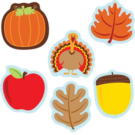 (6 PK) FALL MIX CUT OUTS - Fall Cut Outs