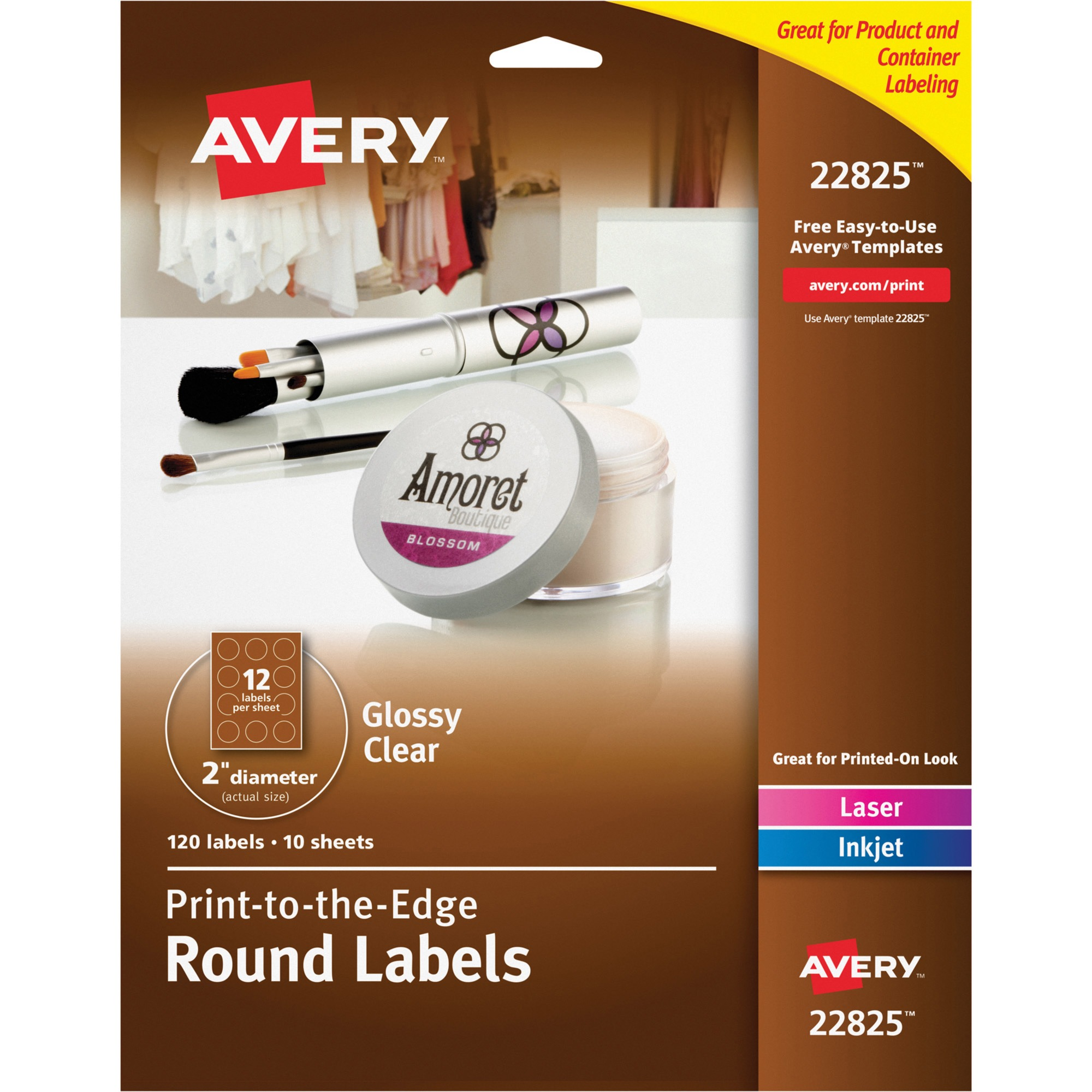 Glossy Clear Print-to-the-Edge Round Labels